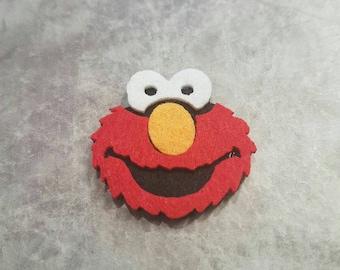 Elmo Felt Badge