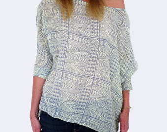 Linen printed tunic