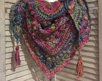 "Multicolored ""Lost in Time"" Shawl"