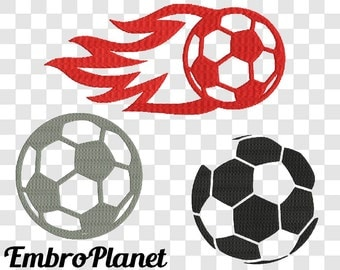 Soccer Ball - Designs for Embroidery Machine Digital Graphic File Stitch Instant Download Commercial Use play ball fast fire outline 98e