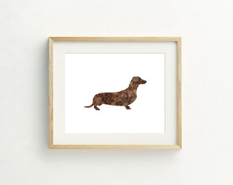 Simple Dachshund Print