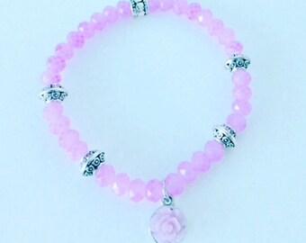 Lovely Rose Lavender Bracelet
