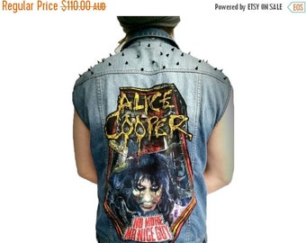 ON SALE Alice Cooper Denim Vest