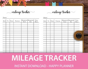 mileage tracking form