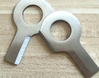 10pcs Keyring Eye Knife Survival Paracord Lanyard Keychain Ring Knife Survival EDC Gear