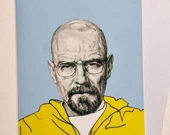 Breaking Bad Illustrative A5 Card - Walter White/Bryan Cranston
