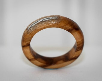 Ring wooden Olivier and metal