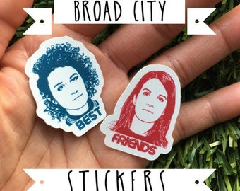 Broad City Vinyl Stickers - Vinyl Stickers, Best Friends - Yas Queen, Ilana, Abbi, New York, Jews, Gift For Her, Broad City Stickers, Squad