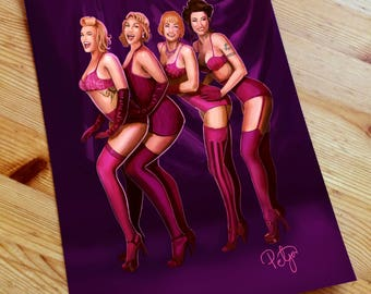 Pinup Pole Show Painting - Print