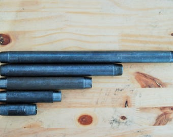 """Tubes to measure 10 to 200 cm black steel 15 / 21mm (1/2 """") or 20/27 (3/4"""") or 26 / 34mm (1 """")"""