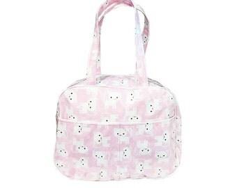 Pink Cat Bowling Bag