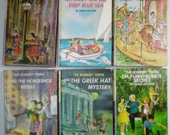 Lot 16 BOBBSEY TWINS Books Laura Lee Hope Hardcovers