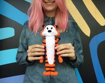 Felt Hobbes Tiger Toy, Little Felt Toy Soft Plushies,  Calvin and Hobbes, Nursery Décor, Felt Crib Mobile, Tiger Orange Plushie