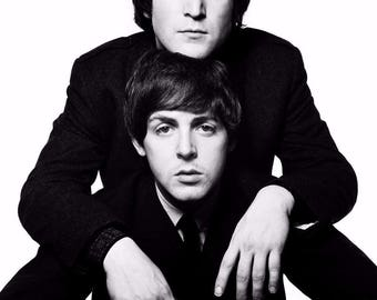 Paul Mccartney, John Lennon, The Beatles, Black and White 8x10 Photo Picture Celebrity Print FREE Shipping