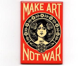 Obey - Make Art Not War Magnet