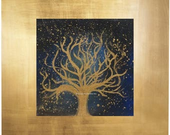 """Original metallic abstract acrylic painting on a canvas board, (8"""" x 8"""")"""