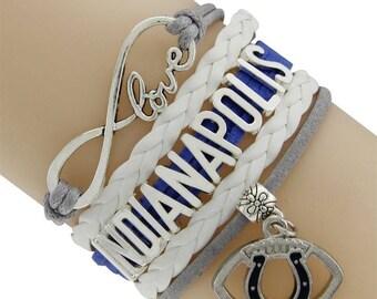 Indianapolis Colts Love Friendship Charm Bracelet