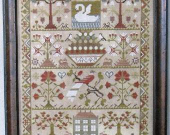 Smith Reproduction Sampler by Scarlett House Counted Cross Stitch Pattern/Chart
