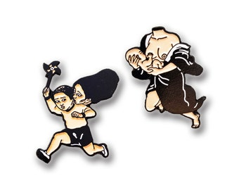 Japanese Mother/Son Pin Set
