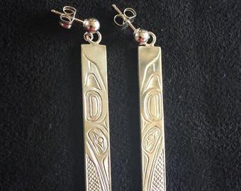 Hummingbird Earrings in sterling silver.