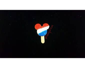 Disney Inspired 4th Of July Rice Krispie Mickey Treat Brooch or Necklace