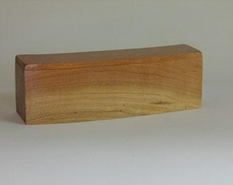 Handcrafted Cherry Wood Box, Carved Box, Trinket Box, Keepsake Box, Wedding Gift, Bride Gift, Groom Gift