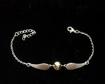 Harry Potter Golden Snitch Bracelet-Nickel free bracelet-gift bag included