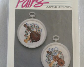Golden Bee Pairs Counted Cross Stitch #60295 Musical Instruments
