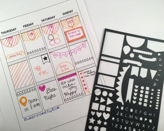 Ultimate Bullet Journal or Planner Stencil