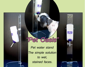 Dog water bottle stand, pet water stand, cat water bottle stand, water bottle stand, keep pets face dry