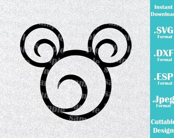 INSTANT DOWNLOAD SVG Disney Inspired Mickey Mouse Ears for Cutting Machines Svg, Esp, Dxf and Jpeg Format Cricut Silhouette