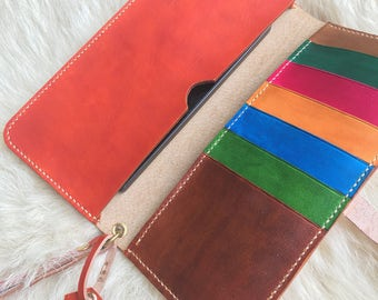 Leather handmade wallet
