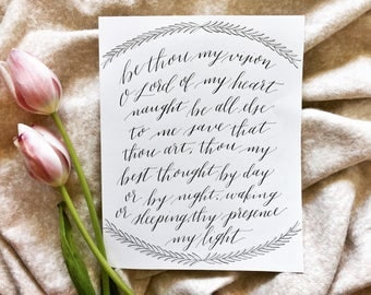 Be Thou My Vision Calligraphy Wall Print
