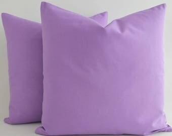 Solid Purple Pillow Etsy - Purple decorative bedroom pillows