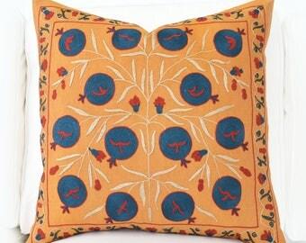 SALE ! - Suzani Pillowcase Uzbek Hand Embroidered Decorative Throw Home Decor Pillow Cushion Accent Pillow Bohemian Pillow Suzani Pillow