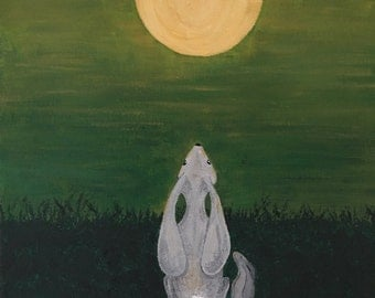 Moon Gazing Hare and Leveret