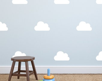 Cloud Wall Decal - Wall Sticker - Nursery Kids Wall Decal Pattern - Playroom Decor| PP114