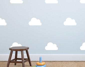 Cloud Wall Decal - Wall Sticker - Nursery Kids Wall Decal Pattern - Playroom Decor| PP114