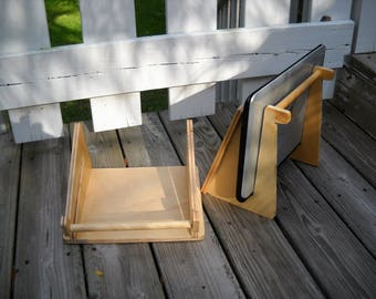 Laptop Stand, Wood Laptop Stand, Ergonomic Laptop Stand, Wooden Laptop Stand