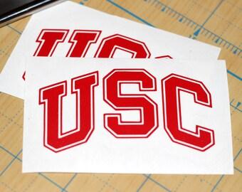 USC Trojans Sticker   Trojans Decal