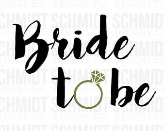 Bride to be Iron-on and Stick-on Decal