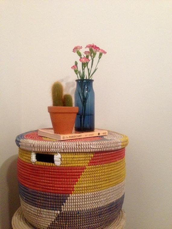 Handmade Baskets From Africa : Handmade african storage basket