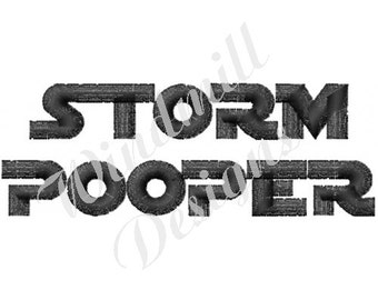 Baby Storm Pooper - machine embroidery design