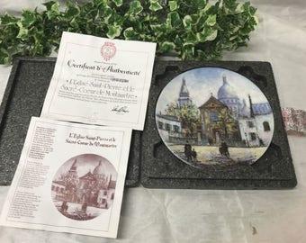 Limited Edition Limoges Plate Louis Dali's L'Eglise Saint-Pierre Et Le Sacre-Coeur De Montmartre 12 Parisian Places #4