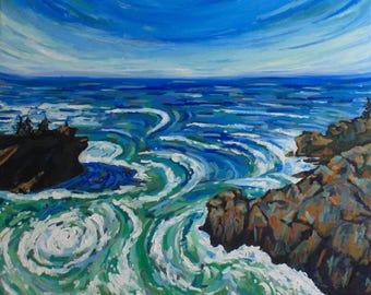 Vibrant Waters original oil painting