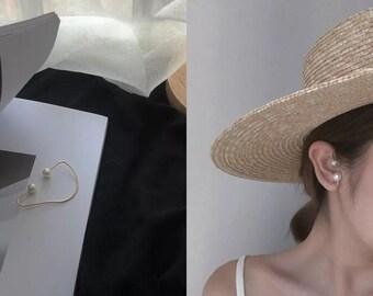 Mondayfreestudio double pearl ear cuff single