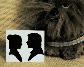 Han Solo and Leia Vinyl Decal Star Wars Decal Star Wars Sticker Leia and Han Solo Sticker