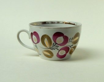 A Cup of tea , teacup painted, vintage Cup, Cup of gold, Cup of the Soviet era