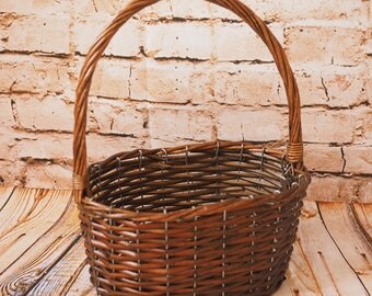 Rustic Oval Woven Basket