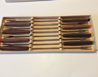 Vintage 8 Piece Fondue Fork Set Made in Japan